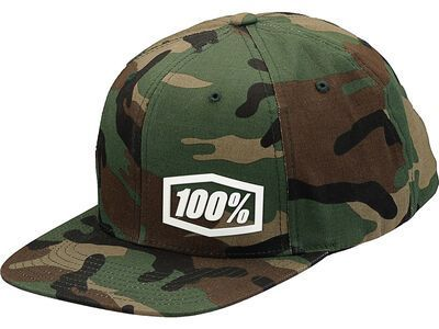 100% Machine Snapback Hat, camo black/green - Cap