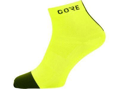 Gore Wear M Light Socken Mid neon yellow/black