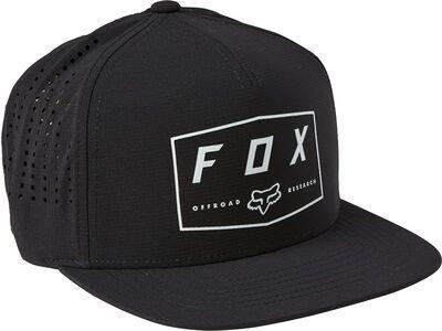 Fox Badge Snapback Hat black