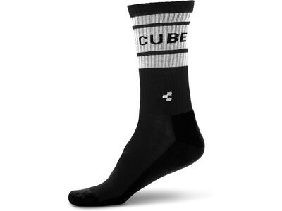 Cube After Race High Cut, black´n´white - Radsocken