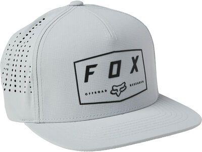 Fox Badge Snapback Hat grey