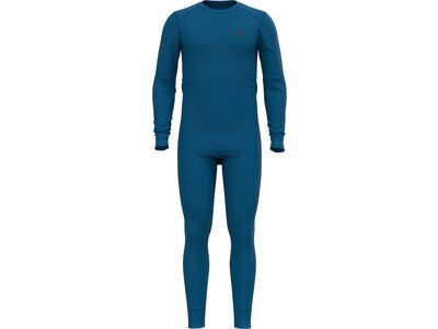 Odlo Men's Active Warm Eco Baselayer Set, mykonos blue