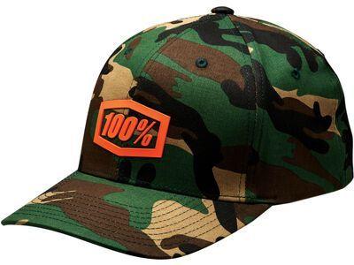 100% Trek Flexfit Hat, camo black/green - Cap