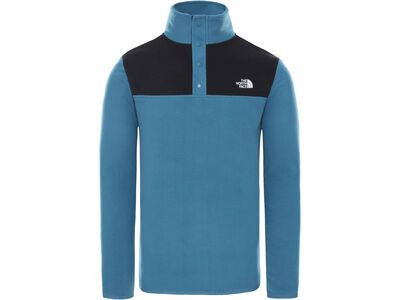 The North Face Men's Tka Glacier Snap-Neck Pullover, mallard blue/tnf black - Fleecepullover