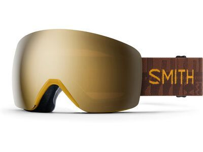 Smith Skyline, amber textile/Lens: cp sun black gold mir - Skibrille