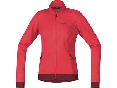 Gore Wear C3 Damen Gore Windstopper Thermo Jacke, pink/red - Radjacke