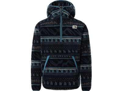 The North Face Men's Printed Campshire Po Hoodie aviator navy tnf