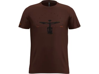 Scott 20 Casual Dye S/Sl Tee maroon red