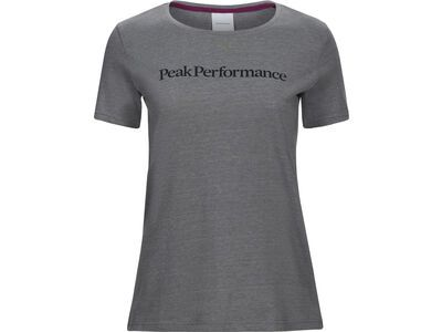 Peak Performance W Track Tee, grey melange - T-Shirt