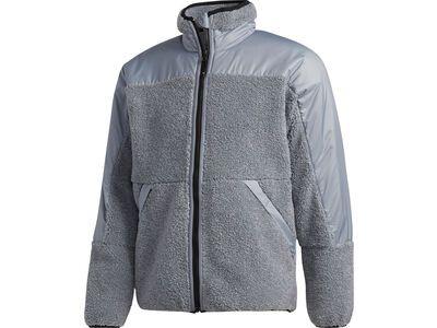 Adidas Fleece Zip Jacket feather grey/orange