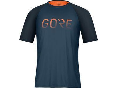 Gore Wear Devotion Shirt orbit blue/fireball