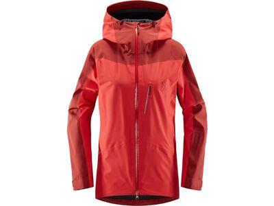 Haglöfs Niva Jacket Women, hibiscus red/brick red - Skijacke