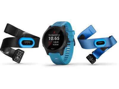 Garmin Forerunner 945 Triathlon-Bundle, blau/schiefer - Sportuhr