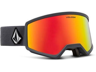 Volcom Stoney, gray/Lens: red chrome - Skibrille