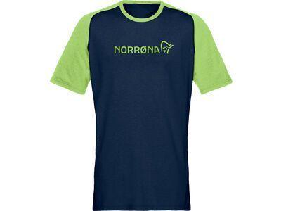 Norrona fjørå equaliser lightweight T-Shirt M's foliage/indigo night