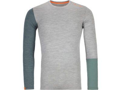 Ortovox 185 Merino Rock'n'Wool Long Sleeve M, grey blend - Unterhemd