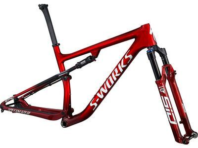 Specialized S-Works Epic Frameset red tint/brushed/white 2021