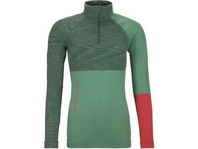 Ortovox 230 Merino Competition Zip Neck W, green isar blend - Unterhemd