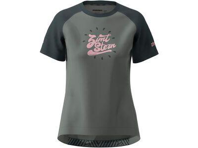 Zimtstern PureFlowz Shirt SS Women gun metal/pirate black