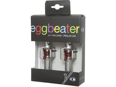 Crank Brothers Eggbeater 1 Hangtag Version, silver/red - Pedale