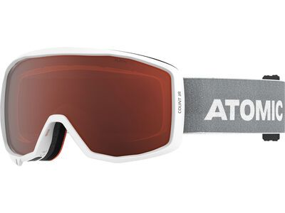 Atomic Count JR, white/light grey/Lens: orange - Skibrille