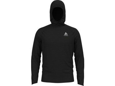 Odlo Millennium Element Midlayer Hoody, black melange - Fleecehoody