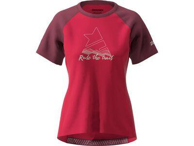 Zimtstern PureFlowz Shirt SS Women's, red/windsor wine/green - Radtrikot