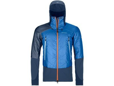 Ortovox Swisswool Light Tec Piz Palü Jacket M, safety blue - Thermojacke