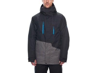 686 Men's Geo Insulated Jacket, black colorblock - Snowboardjacke