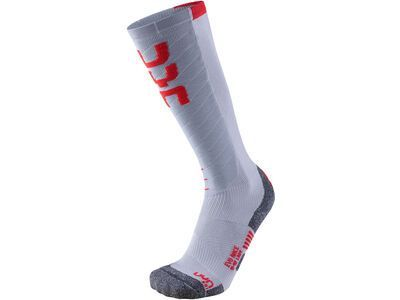 UYN Evo Race Ski Socks Lady light grey/red