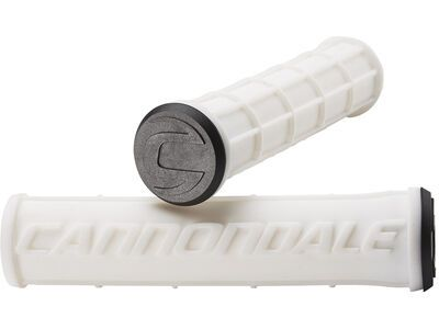 Cannondale Logo Silicone Grips, white - Griffe