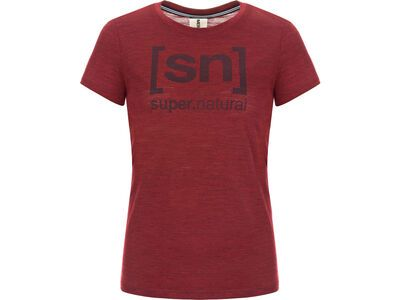 SuperNatural W Essential I.D. Tee, pomegranate - Funktionsshirt