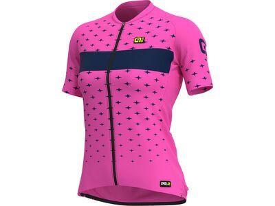 Ale Stars Lady Jersey, fluo pink-navy blue - Radtrikot