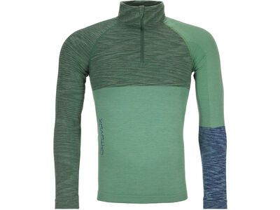 Ortovox 230 Merino Competition Zip Neck M, green isar blend - Unterhemd