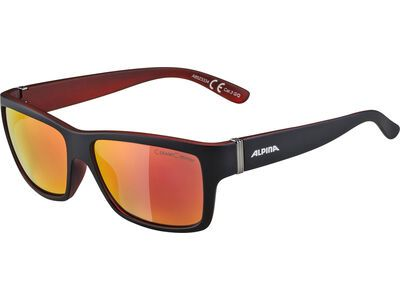 Alpina Kacey, black matt red/Lens: ceramic mirror red - Sonnenbrille
