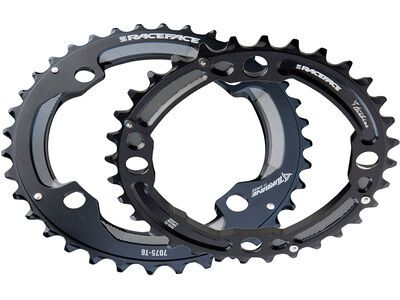 Race Face Turbine 2x Chainring - LK 104/64, black - Kettenblatt