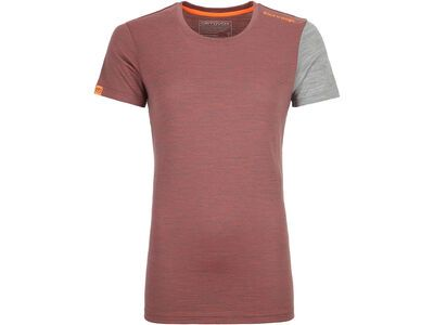 Ortovox 185 Merino Rock'n'Wool Short Sleeve W, blush blend - Unterhemd