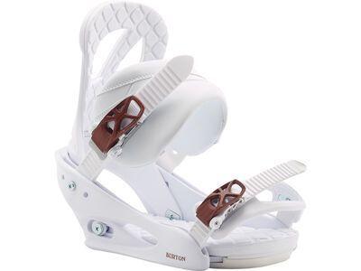 Burton Stiletto 2020, white - Snowboardbindung