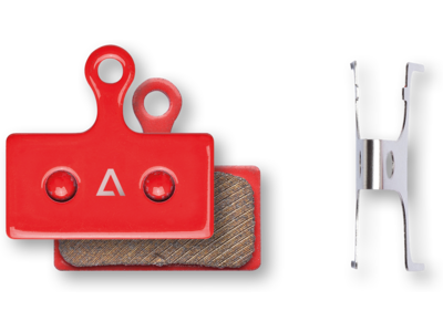 Cube Acid Scheibenbremsbelag Shimano XTR BR-M9000/9020/M985,XT BR-M8000/M785, SLX BR-M666, Alfine BR-S700 - gesintert red