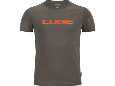 Cube Junior Organic T-Shirt Classic Logo brown