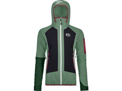 Ortovox Merino Naturtec Light Col Becchei Jacket W green isar