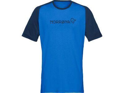 Norrona fjørå equaliser lightweight T-Shirt M's olympian blue/indigo night