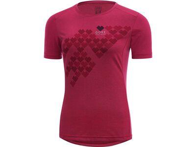 Gore Bike Wear E Lady Digi Heart Shirt jazzy pink