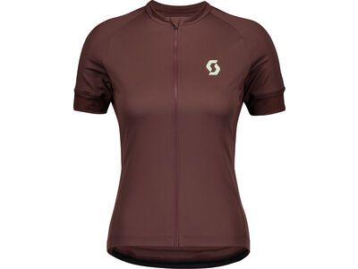 Scott Endurance 10 S/Sl Women's Shirt, maroon red/mint green - Radtrikot