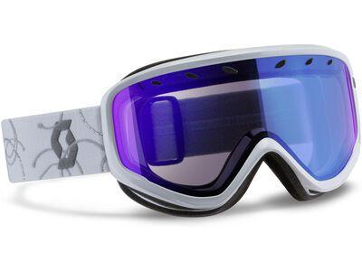 Scott Capri, white/silver illuminator blue - Skibrille