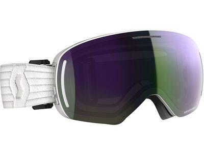 Scott LCG Evo inkl. WS, white/Lens: enhancer green chrome - Skibrille