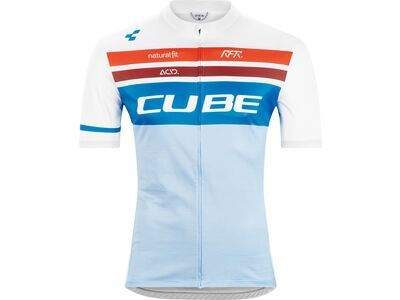 Cube Teamline Trikot Competition kurzarm white´n´blue´n´red