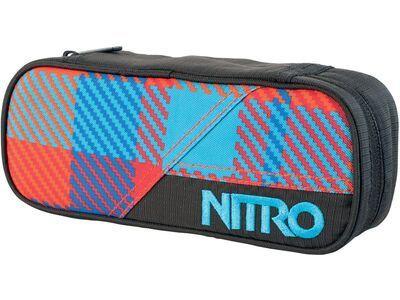 Nitro Pencil Case, plaid red blue