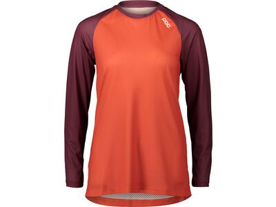 POC W's MTB Pure LS Jersey propylene red/agate red