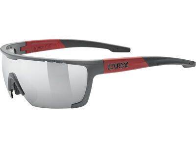 uvex sportstyle 707 Mirror Silver grey red mat